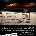 Atelier de pratique théâtrale à partir de lundi 14 octobre pour ados et adultes