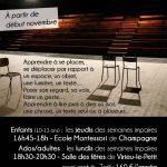 Les ateliers de pratiques théâtrales commencent la 1ère semaine de novembre.