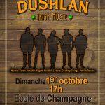 DUSHLAN, dimanche 1er octobre à 17h, école de Champagne en Valromey