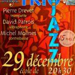 Inter'Vals 2018-2019 : TRIO JAZZ le 29 décembre à 20h30 à Champagne